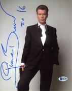 "Pierce Brosnan Autographed 8"" x 10"" Posing in Suit & Tie Photograph with 2016 Inscription - Beckett COA"