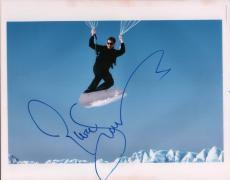 Pierce Brosnan Autographed Signed 11x14 Parachute Photo AFTAL