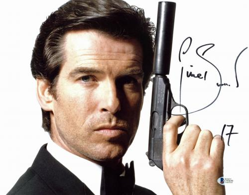 Pierce Brosnan James Bond 007 17 Signed 11x14 Photo BAS #C93039
