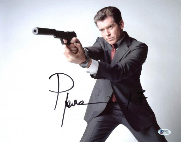 Pierce Brosnan James Bond 007 Signed 11x14 Photo Autographed BAS 3