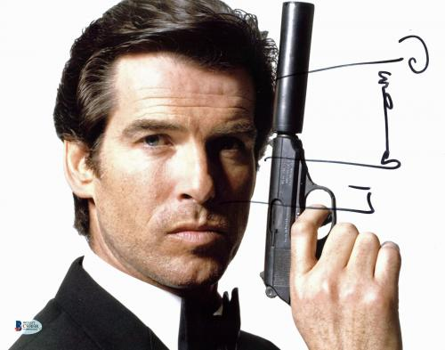 Pierce Brosnan James Bond 007 Signed 11x14 Photo BAS #C93038