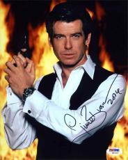 Pierce Brosnan James Bond Autographed Signed 8x10 Photo Authentic PSA/DNA AFTAL