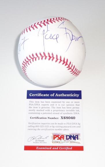 """Pierce Brosnan James Bond Signed """"007"""" Major League Baseball Psa Coa X68040"""