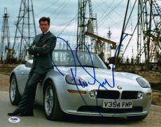 Pierce Brosnan James Bond Signed The World Is Not Enough 11x14 Photo Psa X68034