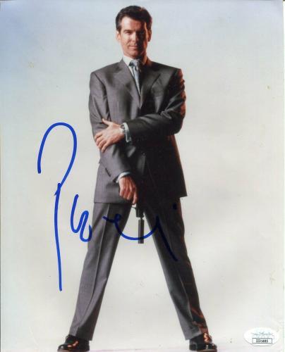Pierce Brosnan James Bond The World Is Not Enough Signed Autograph Photo JSA
