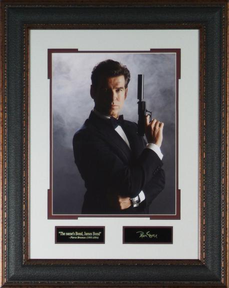 Pierce Brosnan Laser Engraved Signature Display