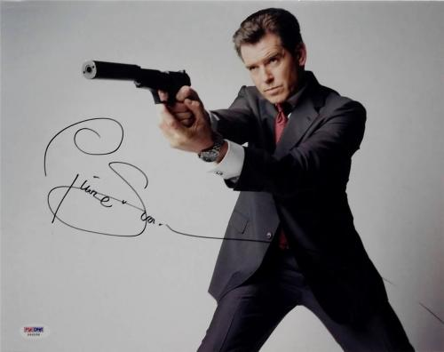 Pierce Brosnan Signed 11x14 Photo PSA/DNA James Bond 007 Auto I
