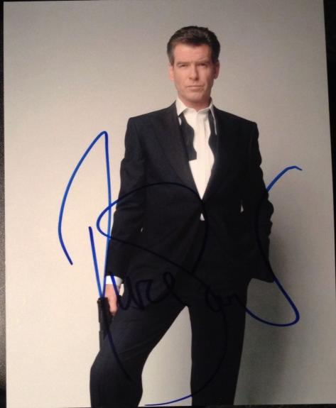 PIERCE BROSNAN SIGNED AUTOGRAPH CLASSIC FILM LEGEND JAMES BOND 8x10 PHOTO COA