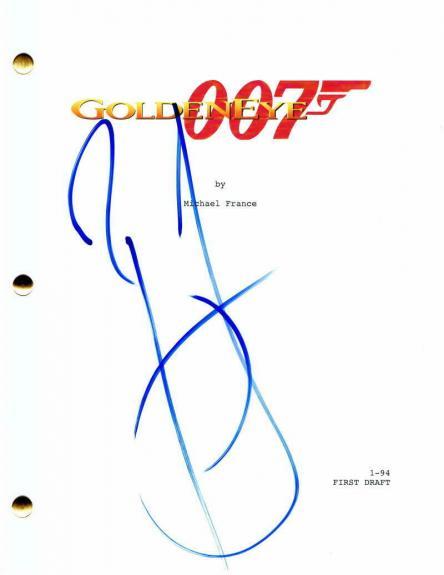 "Pierce Brosnan Signed Autograph ""goldeneye"" Full Movie Script - James Bond 007"