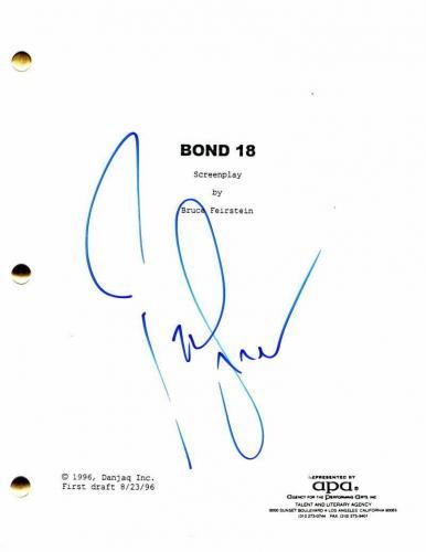 Pierce Brosnan Signed Autograph - Tomorrow Never Dies Movie Script - James Bond