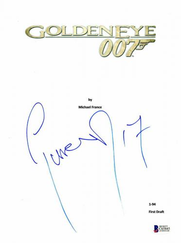 Pierce Brosnan Signed Autographed Goldeneye 007 Full Movie Script Beckett Bas 5