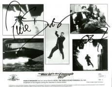 Pierce Brosnan Signed Autographed James Bond 007 8x10 Photograph JSA Authentic