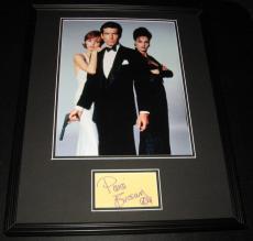 Pierce Brosnan Signed Framed 16x20 Photo Display James Bond