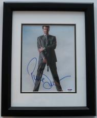Pierce Brosnan Signed Framed James Bond Authentic 8x10 Photo (PSA/DNA) #C51826
