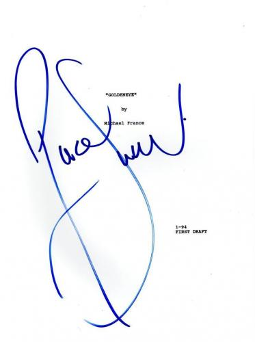 Pierce Brosnan Signed Full Goldeneye 007 James Bond Script Authentic Autograph