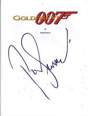 Pierce Brosnan Signed Goldeneye Full Script 157 Page James Bond 007 Autograph