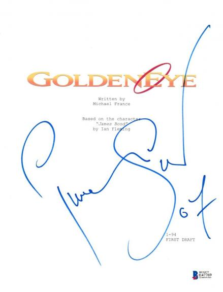 Pierce Brosnan Signed Goldeneye James Bond 007 Script Beckett Bas Autograph Auto