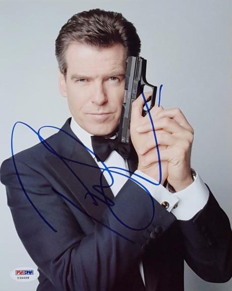 Pierce Brosnan Signed James Bond 007 8x10 Photo PSA/DNA Y34668 Auto