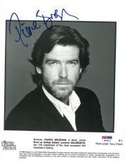 Pierce Brosnan Signed James Bond Authentic Autographed 8x10 Photo (PSA/DNA)