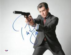 Pierce Brosnan Signed James Bond Autographed 11x14 Photo PSA/DNA #AB63807