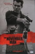 Pierce Brosnan Signed November Man Autographed 11x17 Poster PSA/DNA #Y96874