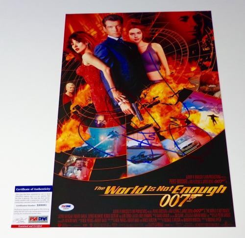 Pierce Brosnan Signed The World Is Not Enough 12x18 Movie Poster Psa Coa X68081