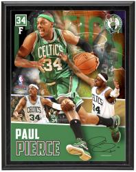 Paul Pierce Boston Celtics Sublimated 10.5'' x 13'' Player Collage Photograph Plaque - Mounted Memories