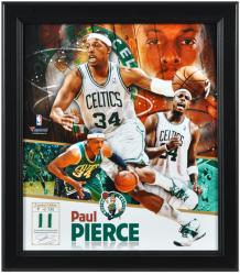 "Paul Pierce Boston Celtics Framed 15"" x 17"" Collage with Game-Used Jersey-Limited Edition of 534 - Mounted Memories"