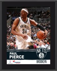 Paul Pierce Brooklyn Nets Sublimated 10.5'' x 13'' Plaque - Mounted Memories