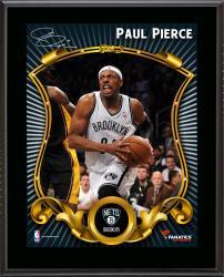 "Paul Pierce Brooklyn Nets Sublimated 10.5"" x 13"" Stylized Plaque"
