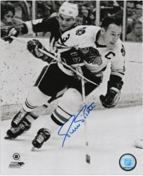 "Pierre Pilote Chicago Blackhawks Autographed 8"" x 10"" Photograph"