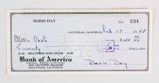 Pillow Talk – Doris Day Signed Check – COA