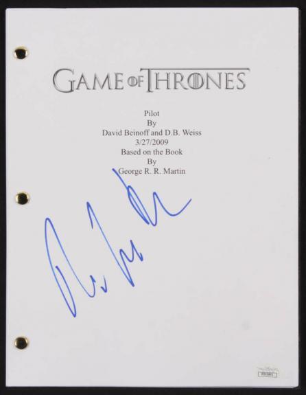 """Pilou Asbaek Euron Greyjoy Signed """"Game of Thrones: Pilot"""" Full Movie Script JSA"""