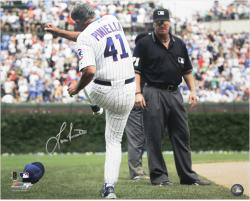 "Lou Piniella Chicago Cubs Autographed 16"" x 20"" Tirade Photograph"