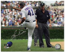"Lou Piniella Chicago Cubs Autographed 8"" x 10"" Tirade Photograph"