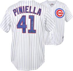 Lou Piniella Chicago Cubs Autographed White Pinstripe Replica Jersey