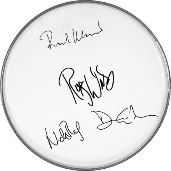 Pink Floyd Autographed Facsimile Signed Fender Drumhead David Gilmour Roger Waters+