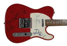 Pink Floyd Band Signed Autographed Guitar Gilmour Wright Mason Waters PSA/DNA