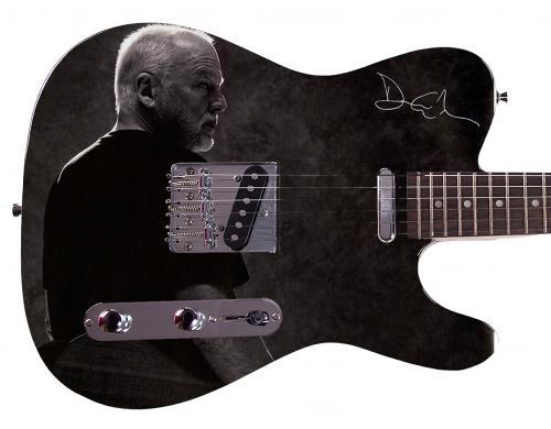 Pink Floyd David Gilmour Facsimile Signature  Custom Graphics Guitar