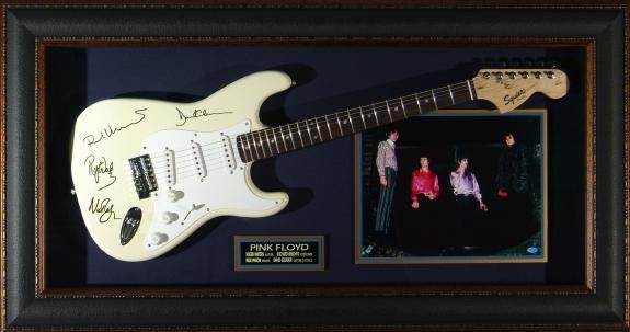 Pink Floyd - Laser Engraved Signature Framed Guitar