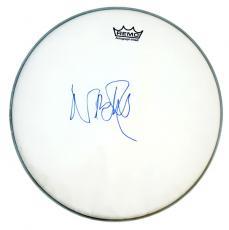 Pink Floyd Nick Mason Signed Drumhead Exact Video Proof AFTAL