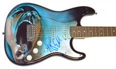 Pink Floyd Roger Waters Autographed Airbrushed Guitar AFTAL UACC RD COA