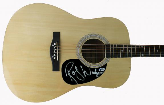Pink Floyd Roger Waters Signed Acoustic Guitar Autographed BAS #A70281