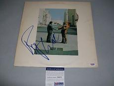 "PINK FLOYD ROGER WATERS signed autographed ""WISH YOU WERE HERE"" LP RECORD PSADNA"