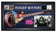 Pink Floyd Roger Waters Signed Guitar + Display Shadowbox Case PSA AFTAL UACC RD