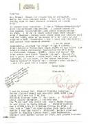 Pinto Colvig D.1967 Actor Bozo The Clown Signed Typed Letter