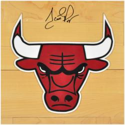 Scottie Pippen Chicago Bulls Autographed 12'' x 12'' Floor Piece - Mounted Memories