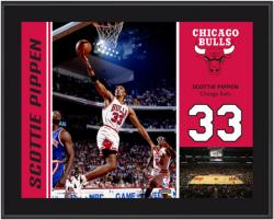 "NBA Chicago Bulls Scottie Pippen Sublimated 10.5"" x 13"" Player Photo Plaque - Mounted Memories"