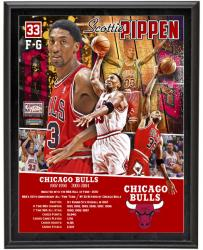 Scottie Pippen Chicago Bulls Sublimated 10.5'' x 13'' Player Collage Photograph Plaque - Mounted Memories