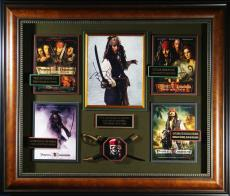 Pirates of the Caribbean Johnny Depp Signed Photo Framed Dis